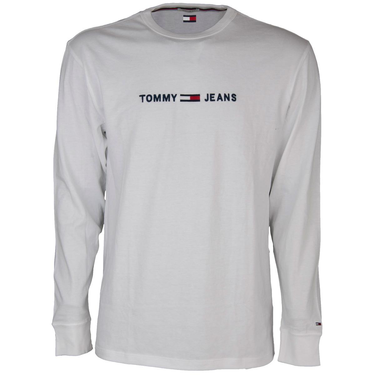 Maglia Tommy jeans a maniche lunghe con logo da uomo rif. DM0DM05331
