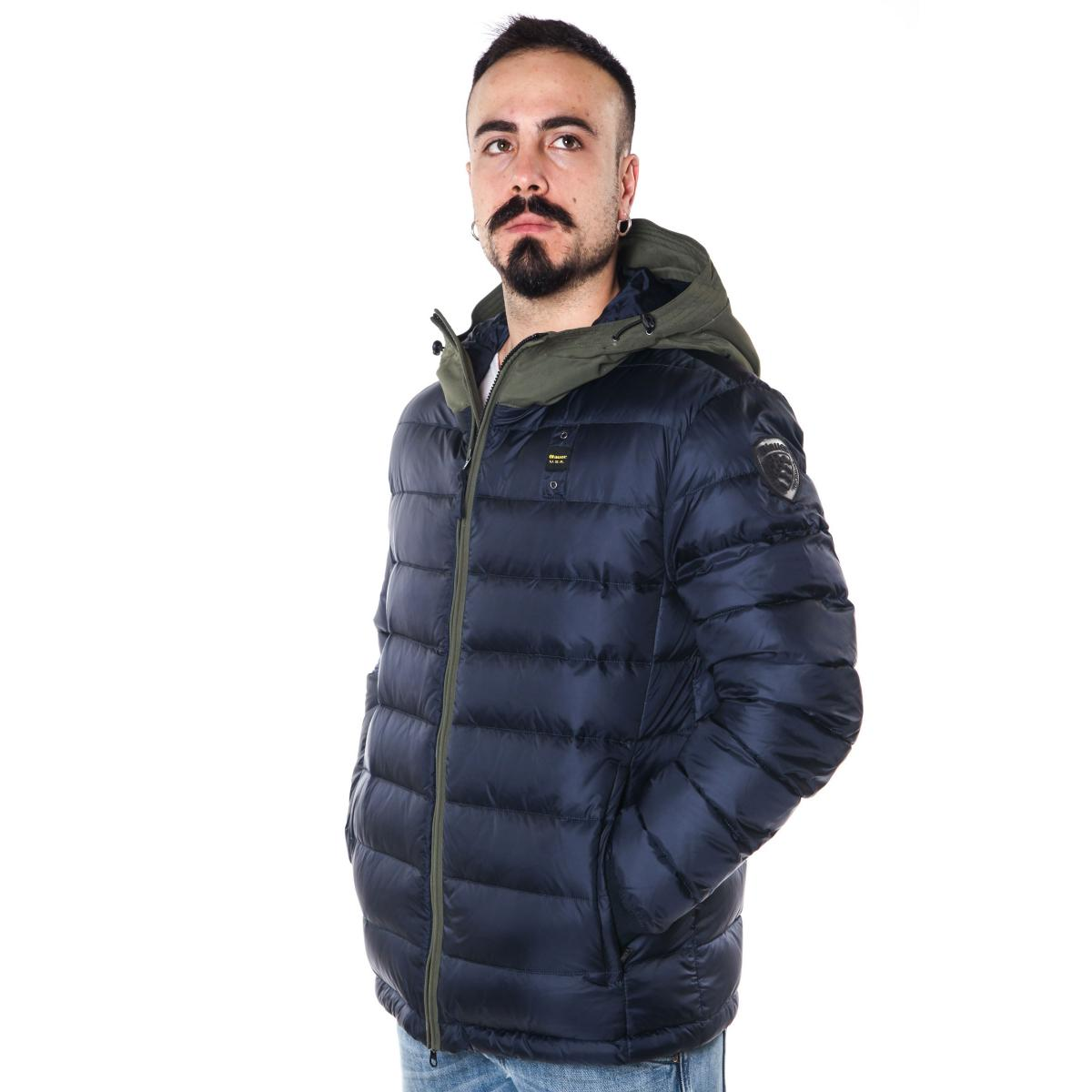 Giubbotto Piumino Blauer USA con cappuccio da uomo rif. 18WBLUC03113-005046