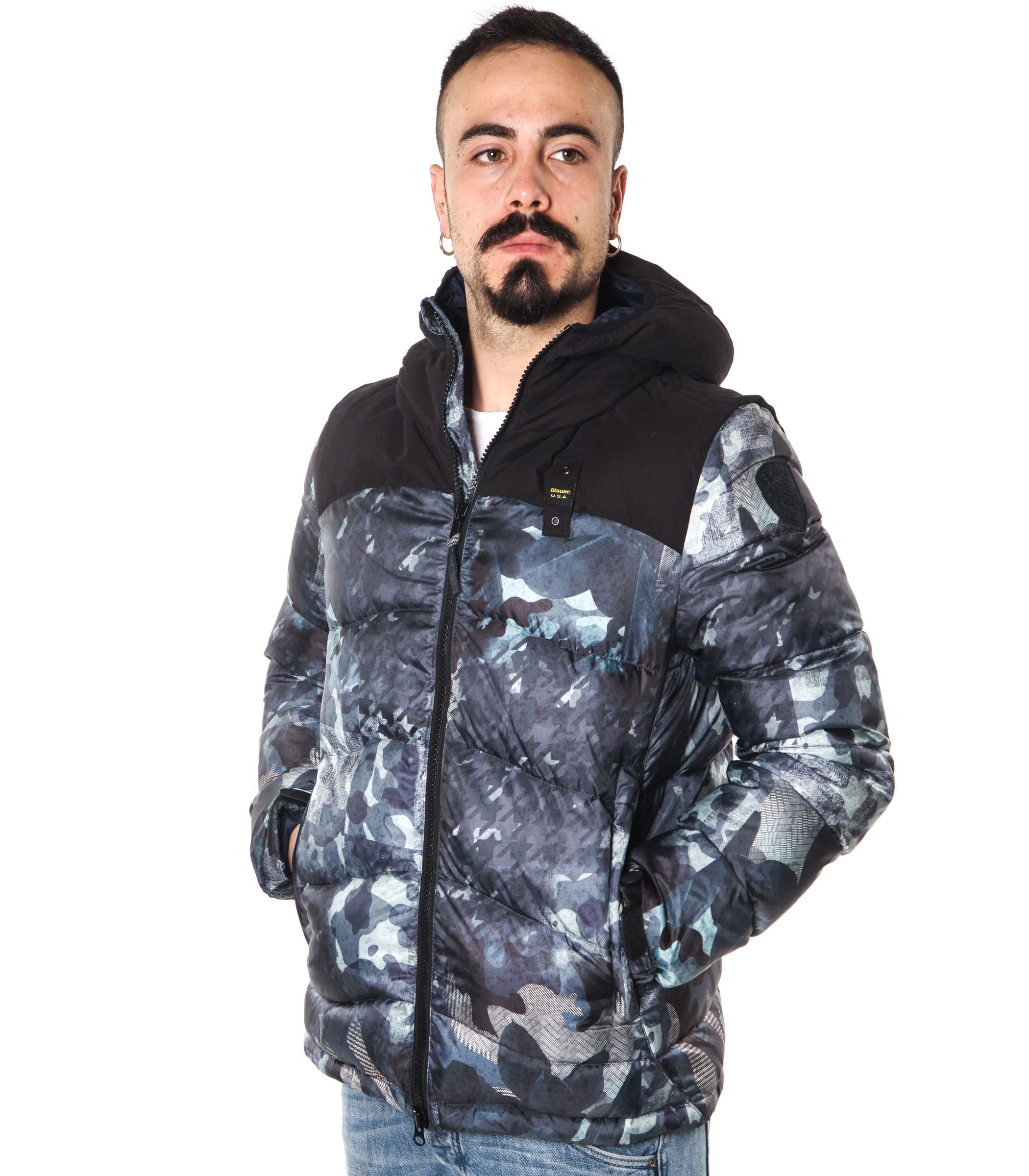 huge selection of 2d464 c7caa Giubbotto Piumino Blauer USA camouflage uomo rif ...