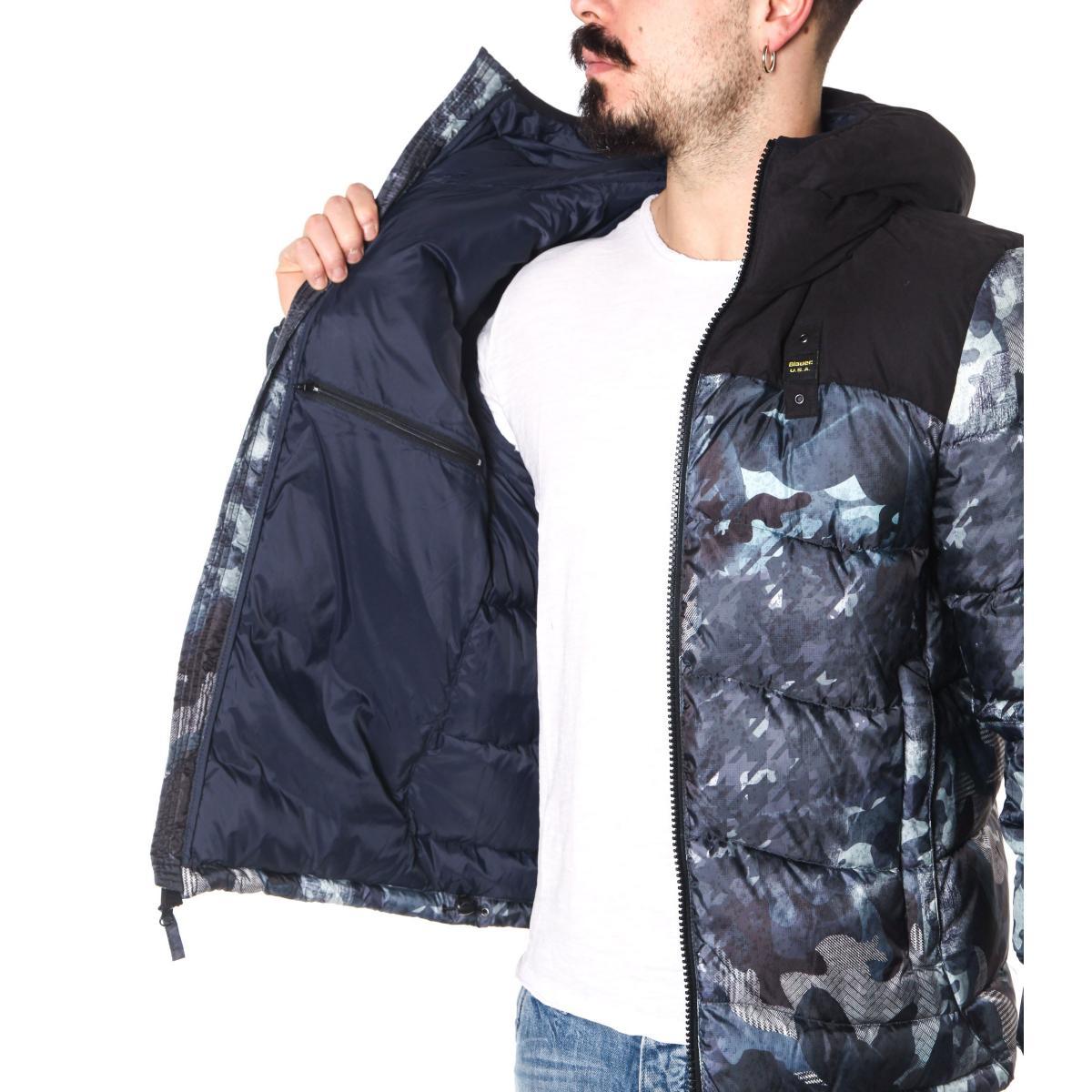 Giubbotto Piumino Blauer USA camouflage da uomo rif. 18WBLUC03106-005058