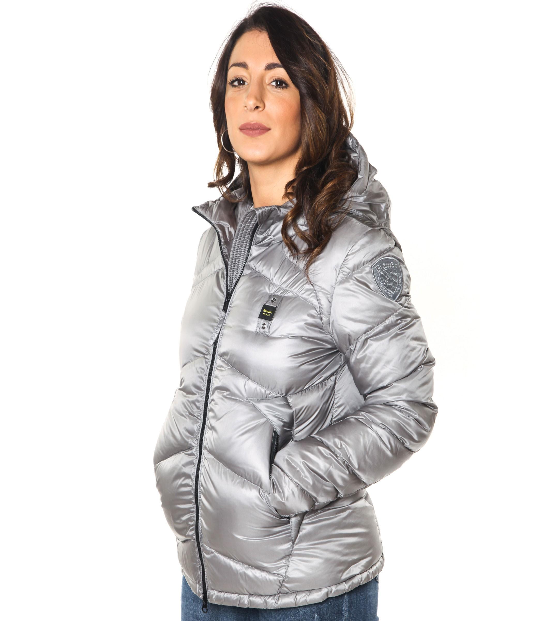 quality design 30de0 fe308 Giubbotto Piumino Blauer USA cappuccio donna rif ...