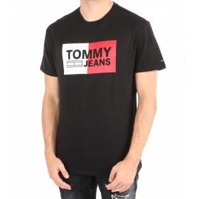 T-shirt Tommy Jeans con logo girocollo da uomo rif. DM0DM05549
