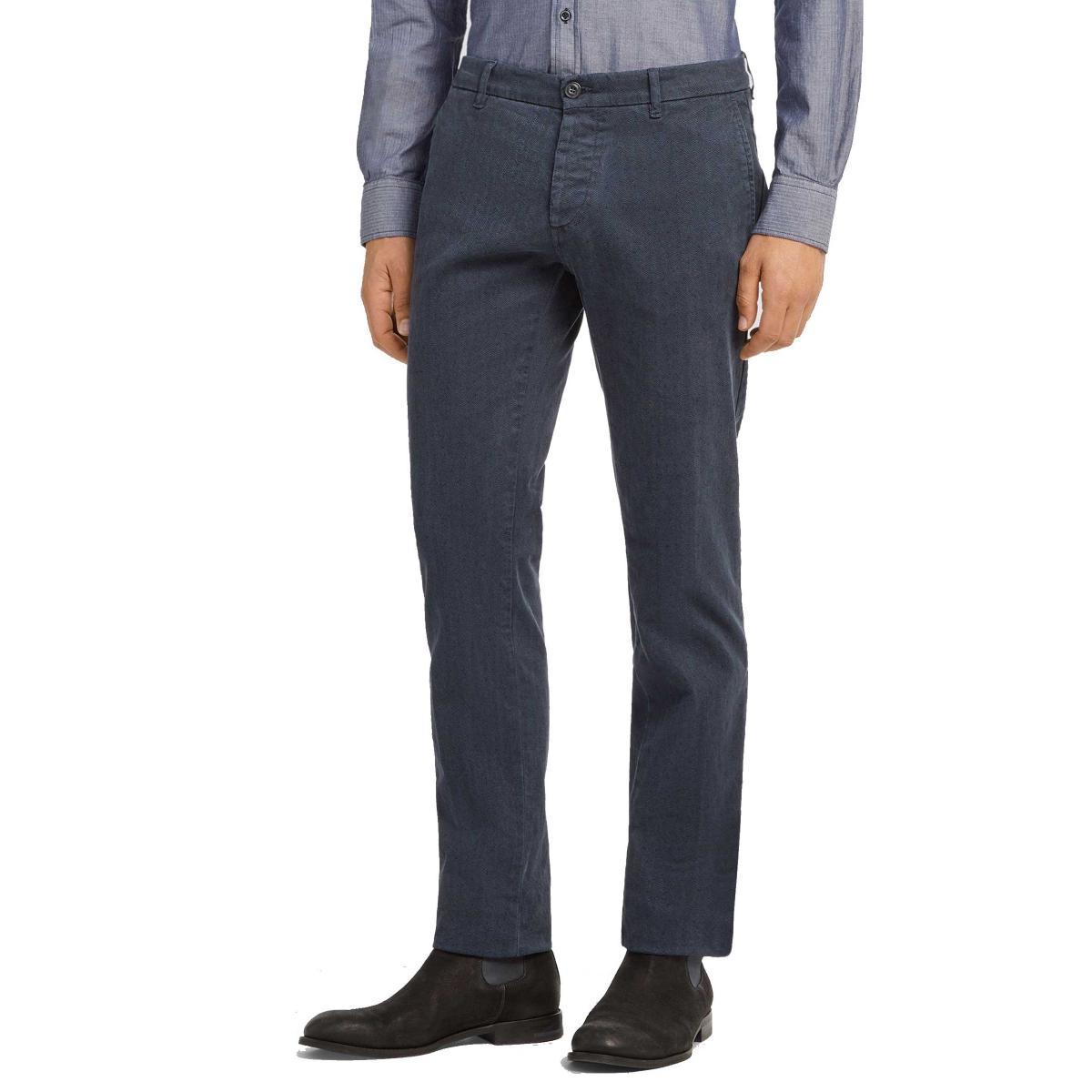 Pantaloni Trussardi 70's fit chino spigati da uomo rif. 52P00008 1T001463