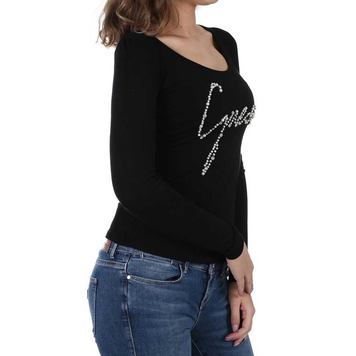 Maglioncino Guess con logo frontale e applicazioni da donna rif. W83R15Z23G0