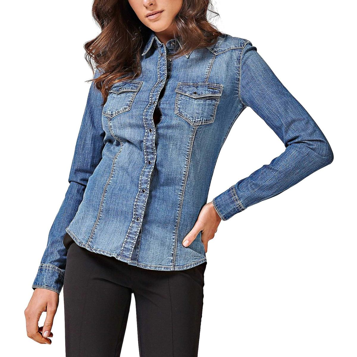 Camicia Guess in denim slim-fit da donna rif. W83H11D28Y0