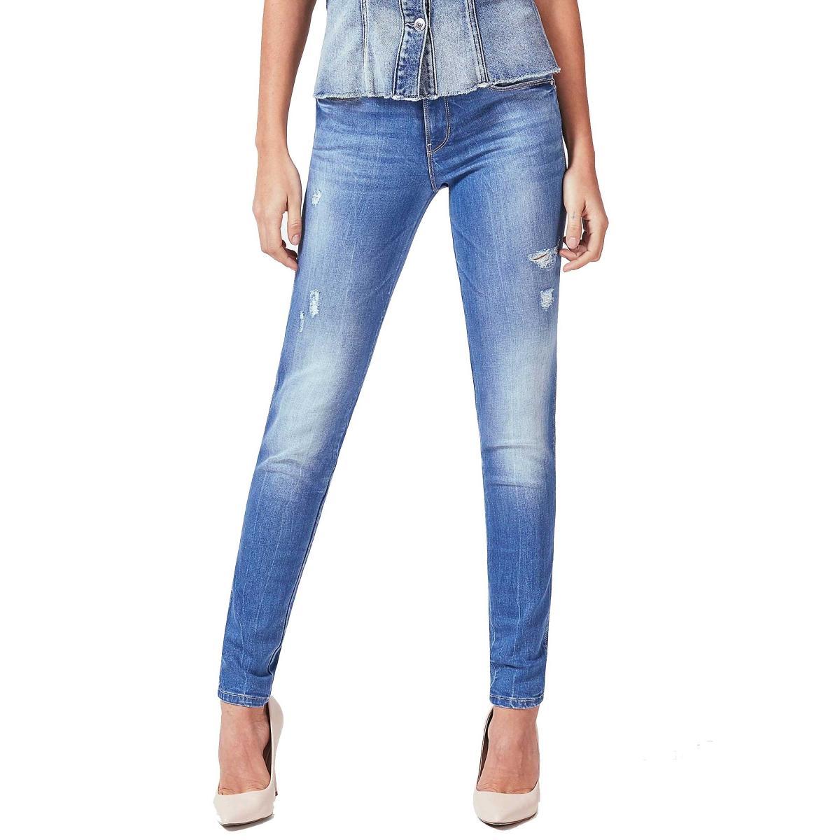 Jeans Guess skinny dettagli abrasioni da donna rif. W83AJ2D38K0