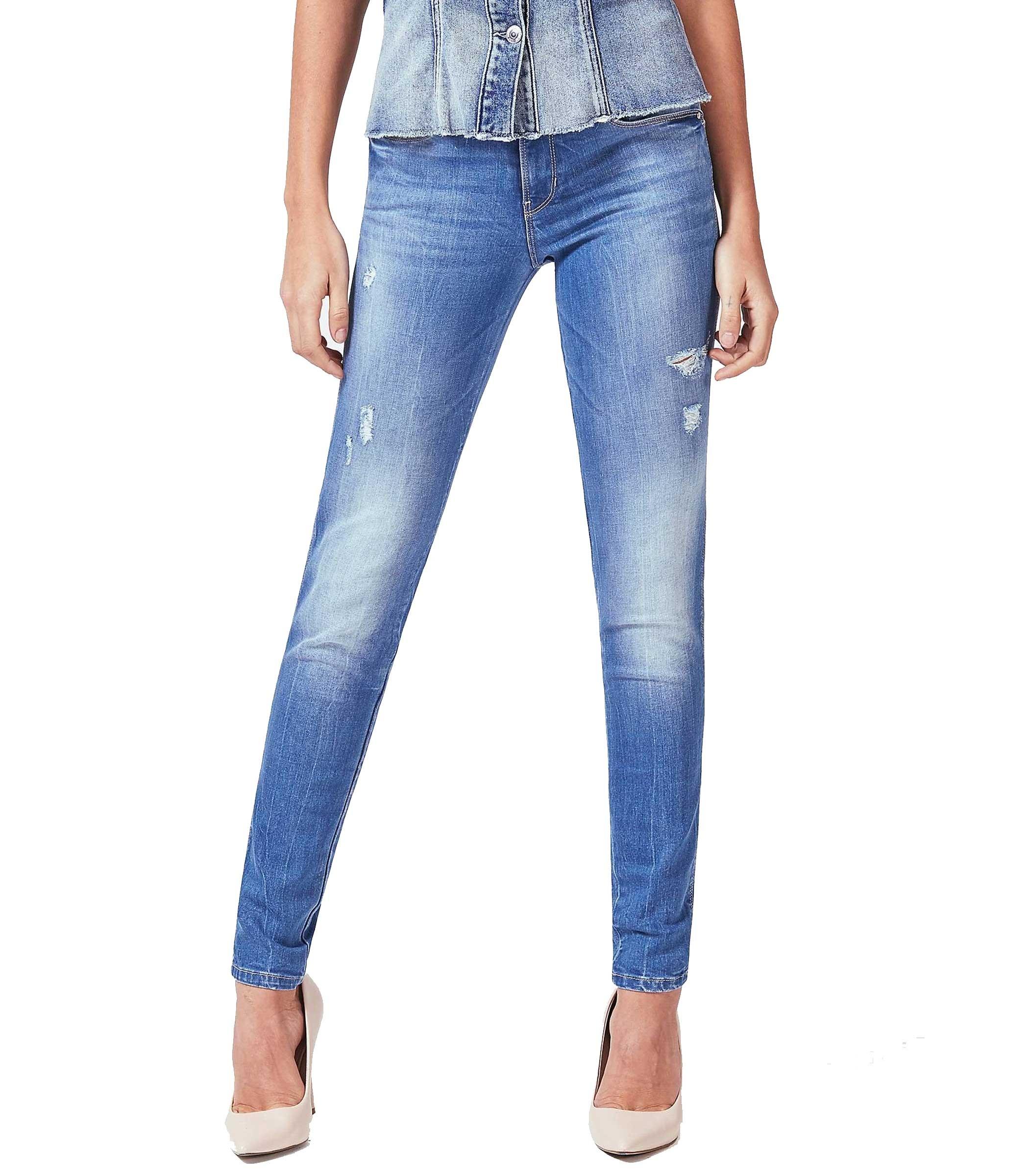 3ff2f7a47b3625 Jeans Guess skinny dettagli abrasioni da donna rif. W83AJ2D38K0