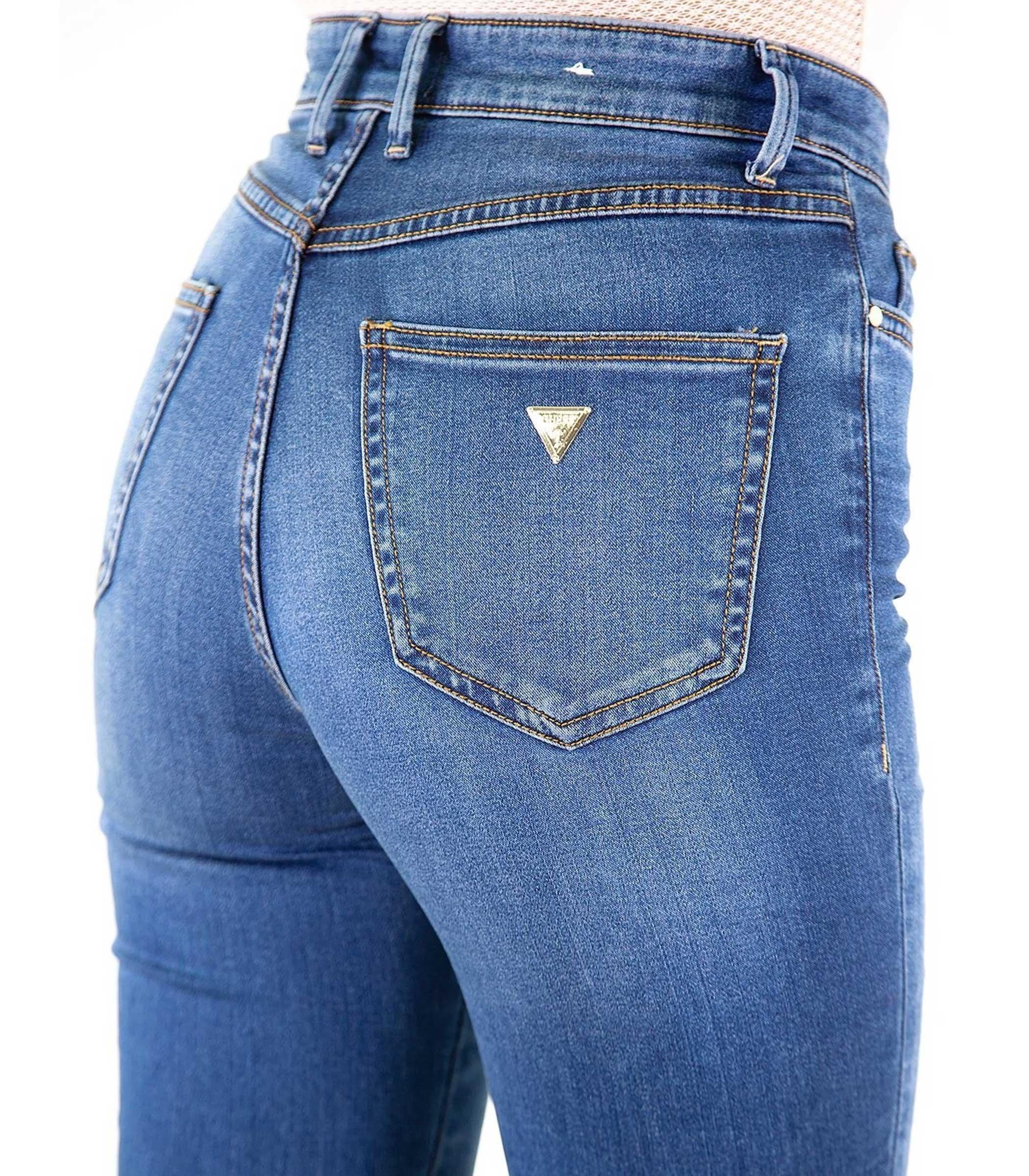 new style fd2e5 b31f7 Jeans Guess 1981 originale vita alta da donna rif. W83A46D38N0