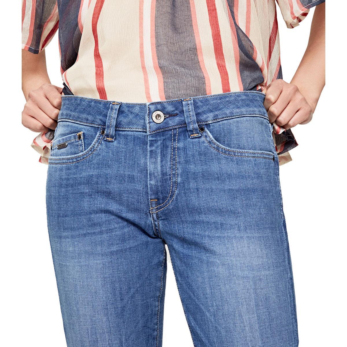 """Pantaloni Pepe Jenas 5 tasche in denim """"Pixie"""" Skinny Fit Mid Waist da donna rif. PL200025GH3"""