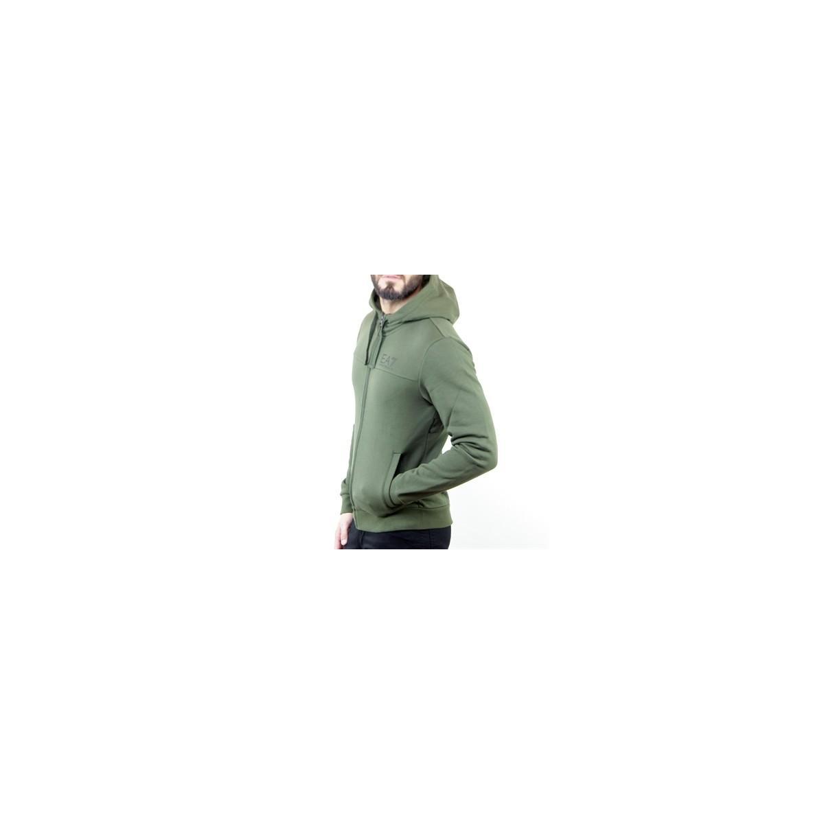 Felpa con zip da uomo Emporio Armani EA7