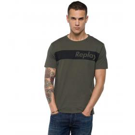 T-shirt Replay cotone fascia logo da uomo rif. M3596.000 2660