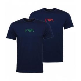 T-shirt Intime Emporio Armani 2 Pack logo da uomo rif. 111267 8A715 27435