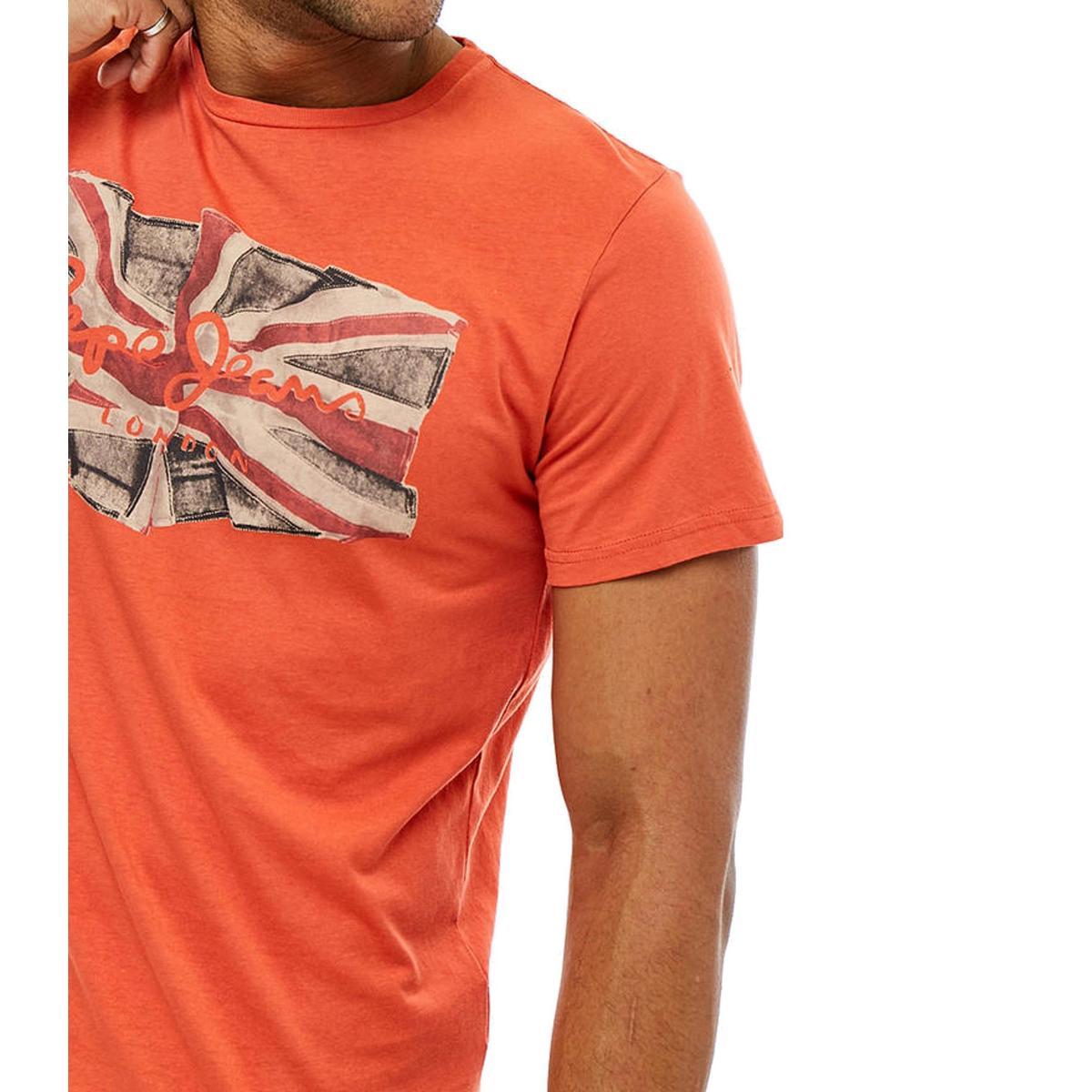 T-shirt Pepe Jeans con stampa da uomo rif. PM505671 FLAG LOGO