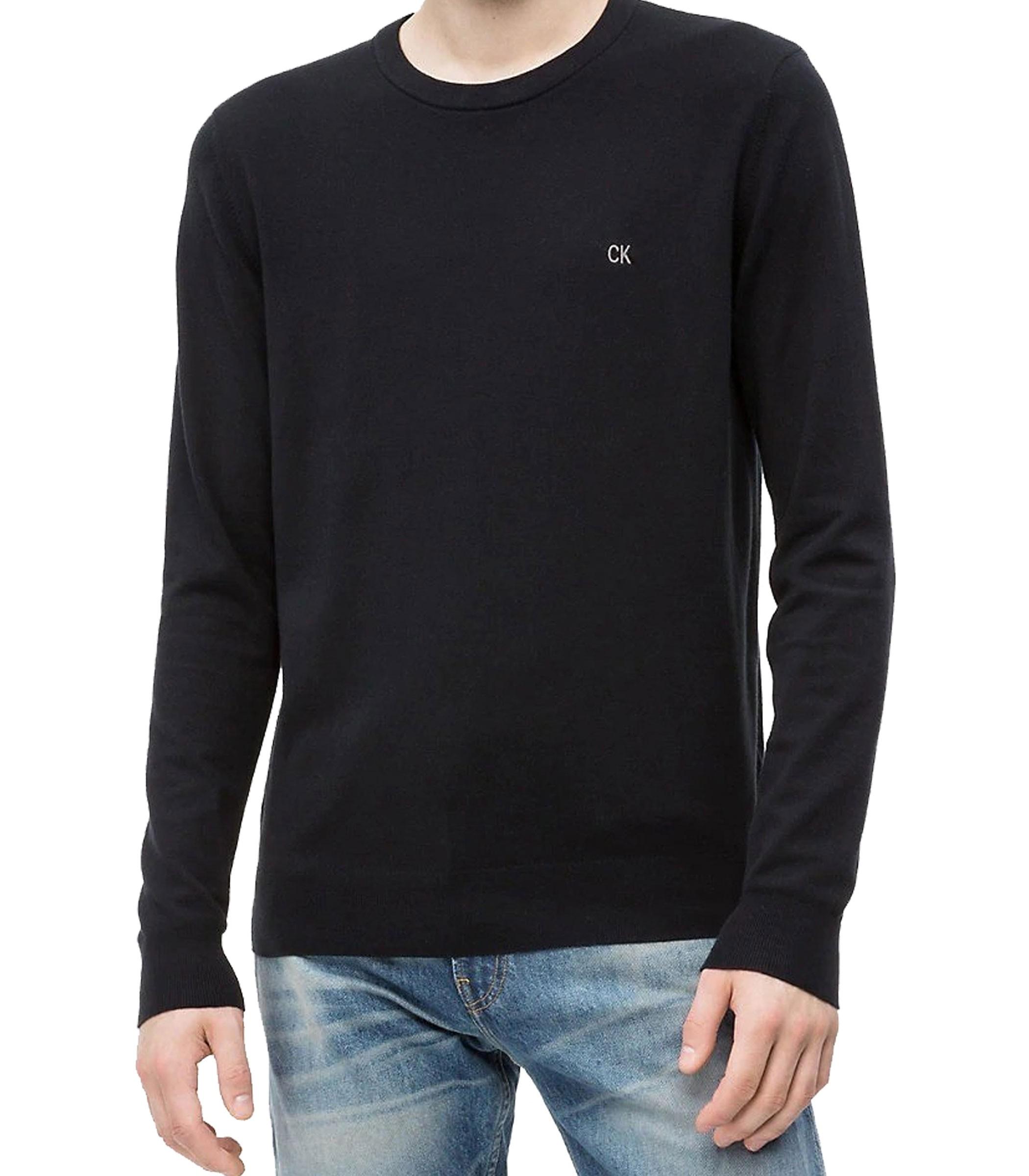 best sneakers 37afe f225f Maglioncino Calvin Klein Jeans in misto cotone da uomo rif ...