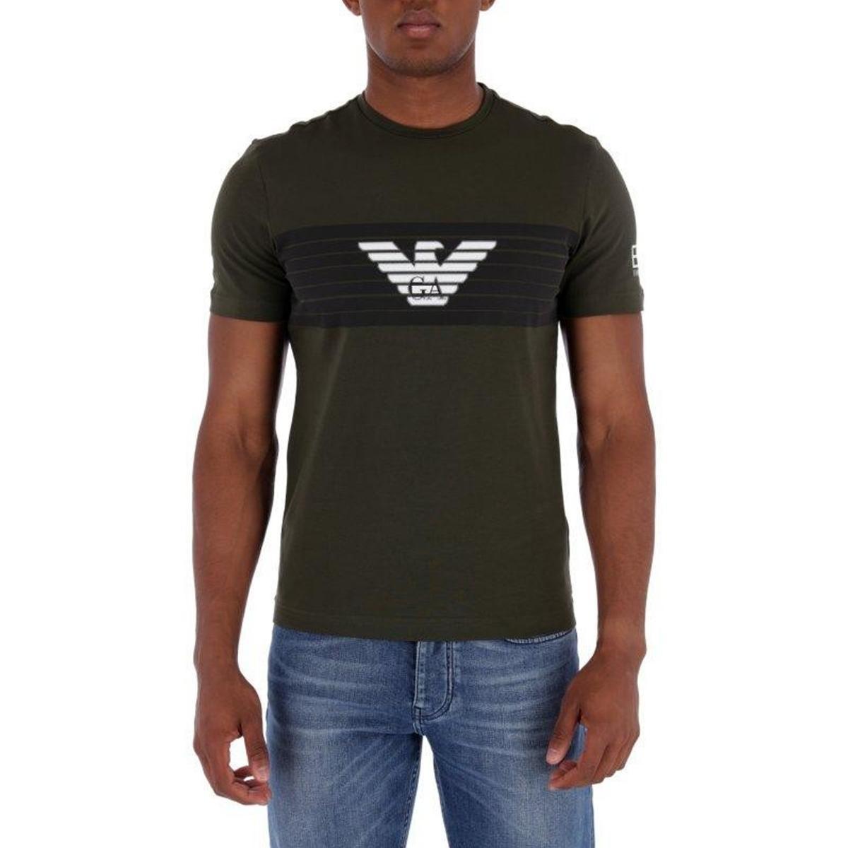 T-shirt Emporio Armani con stampa da uomo rif. 6ZPT29 PJ18Z