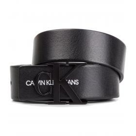 Cintura Calvin Klein Jeans Monogram Belt in pelle da donna rif. K60K605296