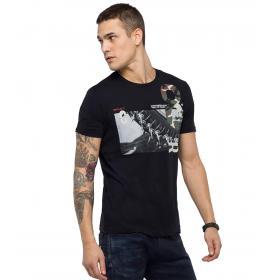 T-shirt Replay con stampa e dettaglio camouflage da uomo rif. M3733.000.2660