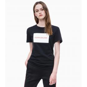 T-shirt Calvin Klein Jeans in cotone biologico con logo da donna rif. J20J208600