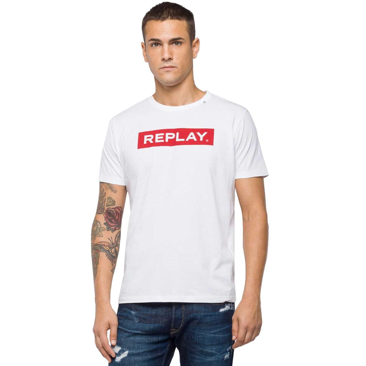 T-shirt Replay girocollo con stampa da uomo rif. M3720 .000.2660