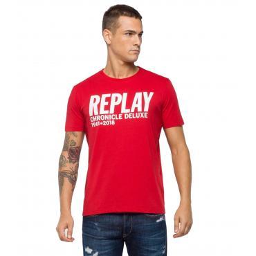 T-shirt Replay con stampa CHRONICLE DELUXE da uomo rif. M3725 .000.2660