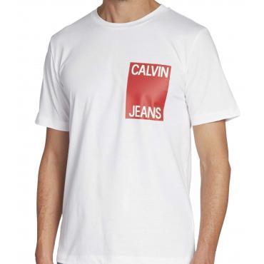 T-shirt Calvin Klein Jeans con logo sul petto da uomo rif. J30J311326