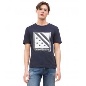 T-shirt Calvin Klein Jeans con stampa sul petto da uomo rif. J30J312117