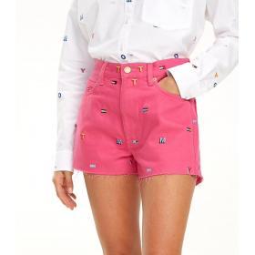 Short pantaloncino Tommy Jeans in denim con monogramma da donna rif. DW0DW06397