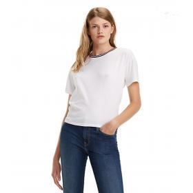 T-shirt Tommy Jeans con collo a contrasto e scollo sul retro da donna rif. DW0DW06396