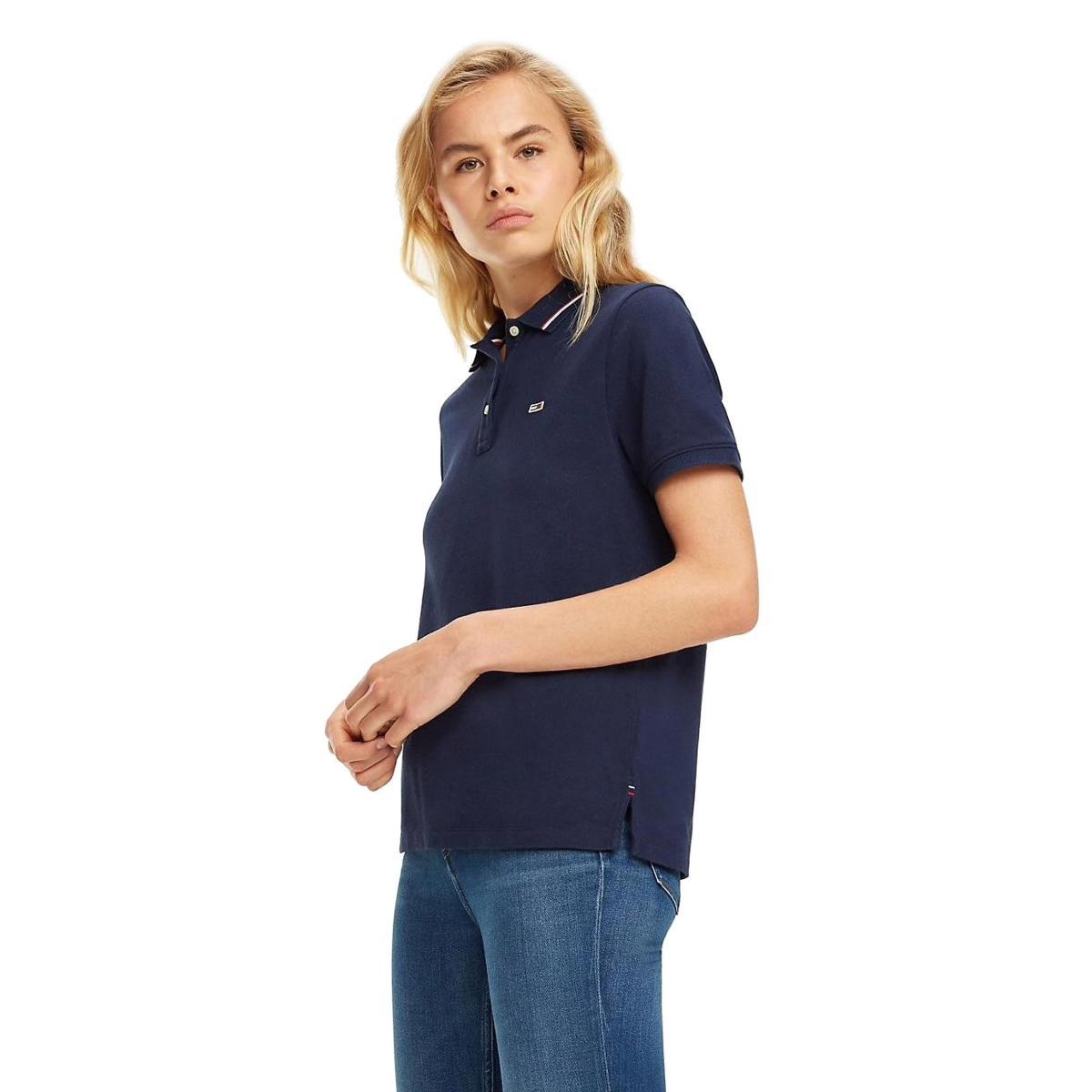 Polo Tommy Jeans in cotone biologico da donna rif. DW0DW05933