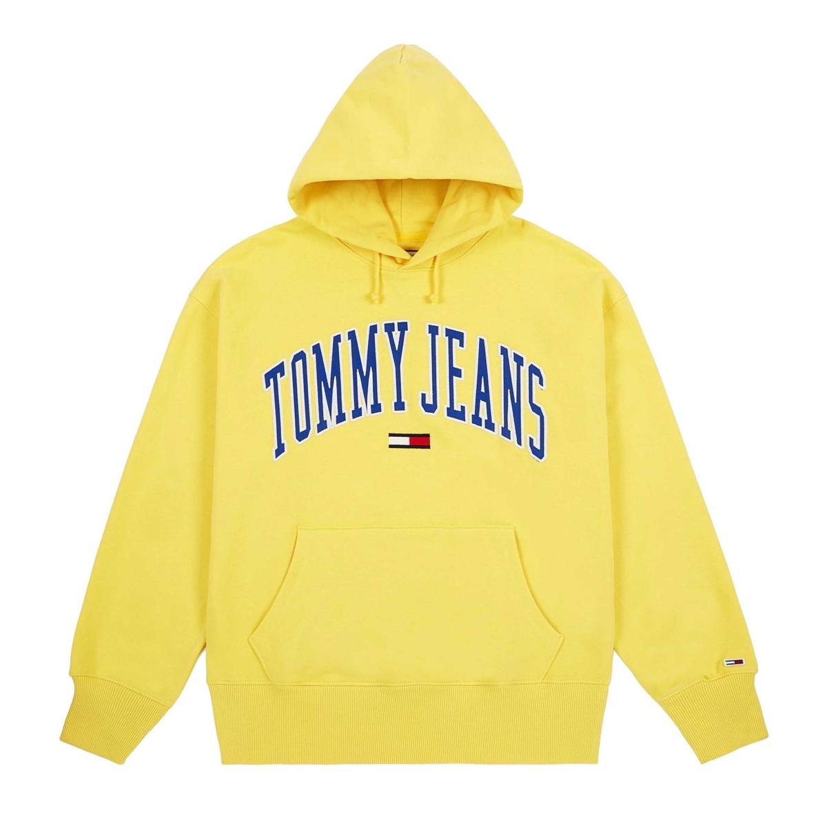 Felpa Tommy Jeans con cappuccio e logo da uomo rif. DM0DM06320