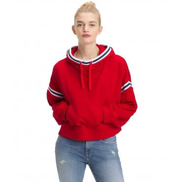 Felpa Tommy Jeans con cappuccio da donna rif. DW0DW05371