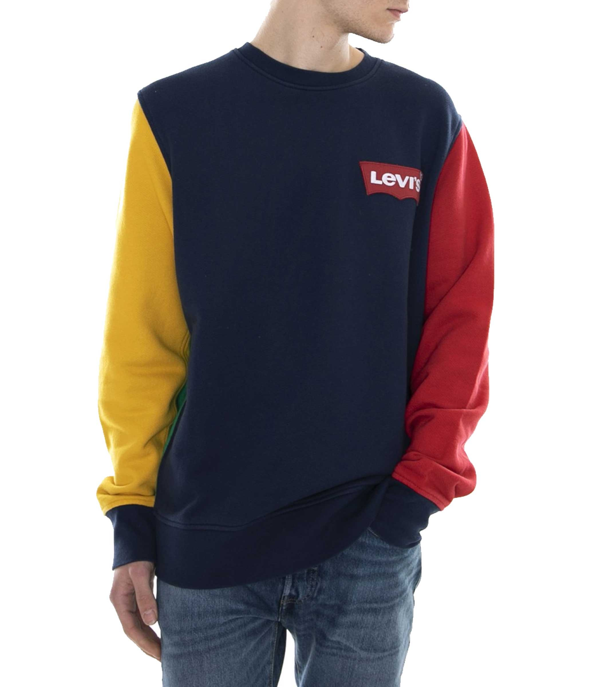 Felpa Levi s Modern Logo Crewneck Sweatshirt da uomo rif. 56606-0004 2194fda5e9b
