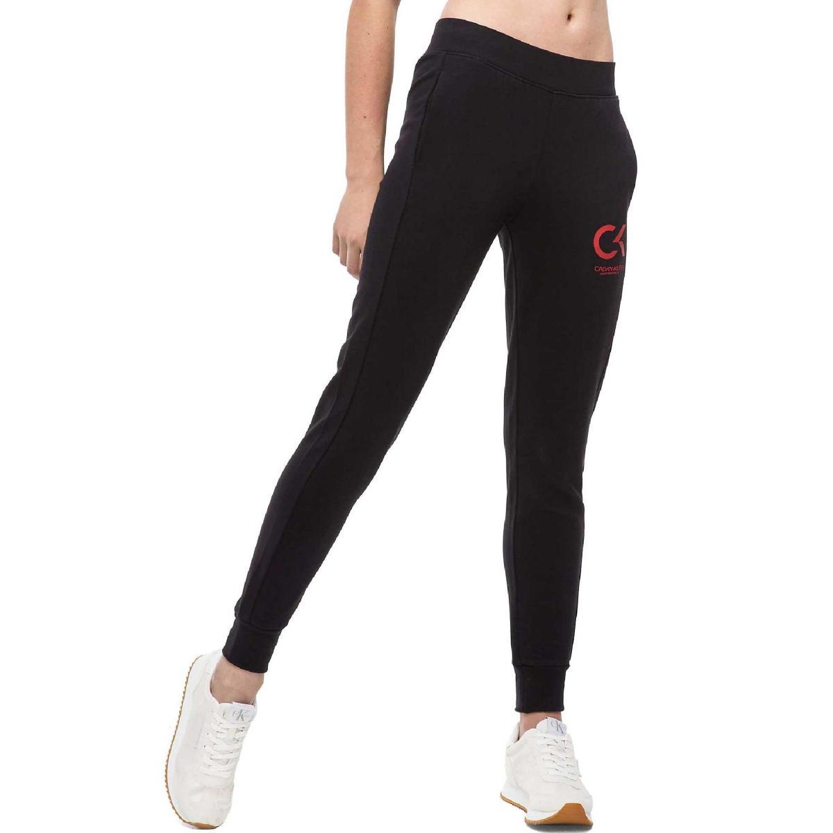 Jogger pantaloni Calvin Klein Performance con logo da donna rif. 00GWF8P674