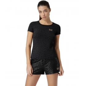 T-shirt Emporio Armani EA7 fantasia animalier da donna rif. 3GTT26 TJ12Z