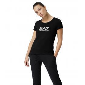 T-shirt Emporio Armani EA7 con logo decorato da donna rif. 3GTT17 TJ12Z