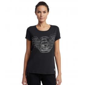 T-shirt Emporio Armani EA7 con logo effetto 3D da donna rif. 3GTT04 TJ28Z