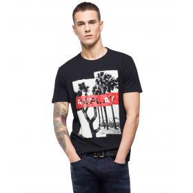 T-shirt Replay con stampa urban da uomo rif. M3736.000 2660