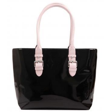 Borsa Armani Exchange Shopping bag multicolor in vernice da donna rif. 942513 9P105