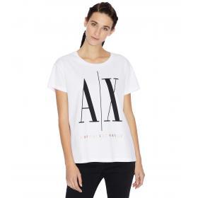T-shirt Armani Exchange boyfriend con macro logo da donna rif. 8NYTCX YJG3Z