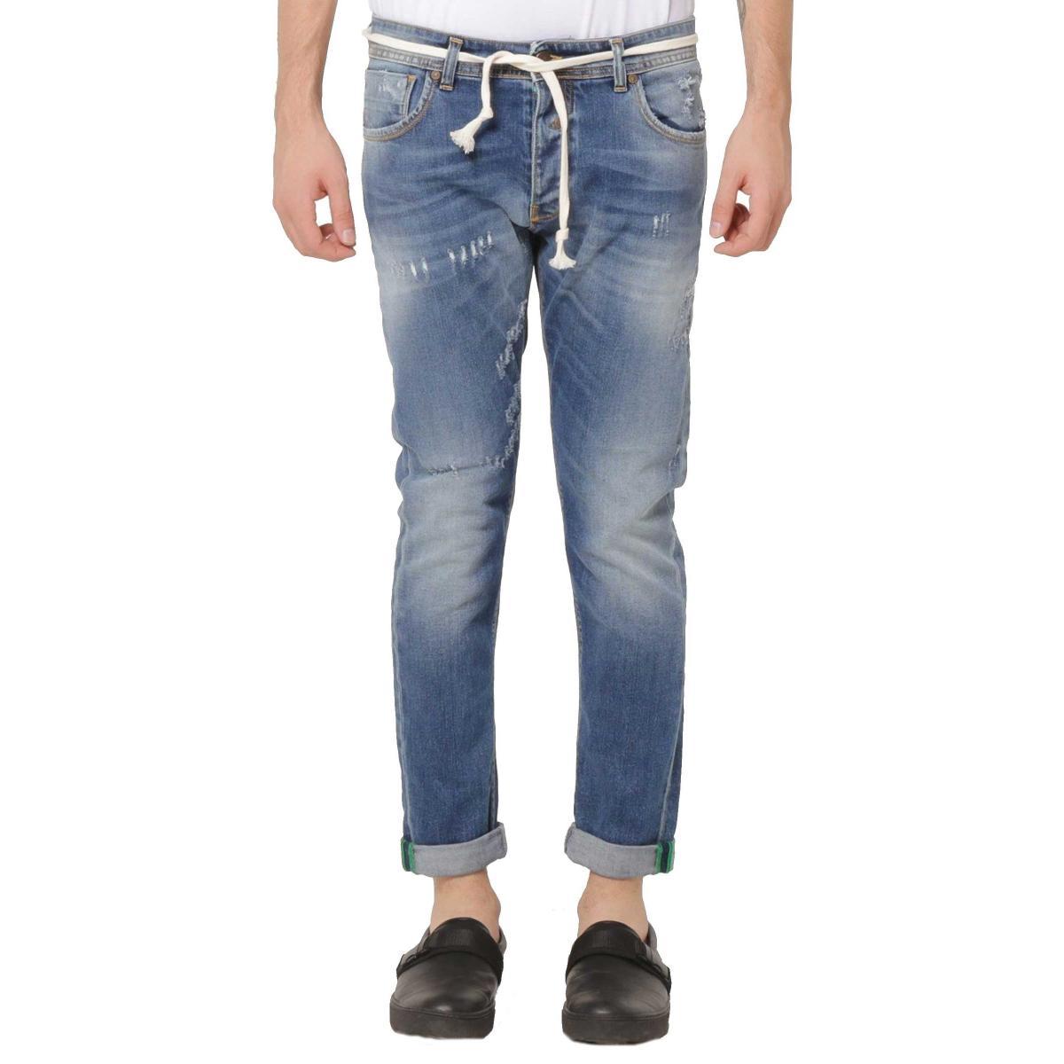 Jeans OUTFIT cinque tasche con carrè risvoltini e corda da uomo rif. OF1S1S9D006