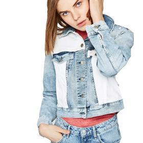 Giacca Pepe Jeans Denim Tess Mix bicolore da donna rif. PL401666