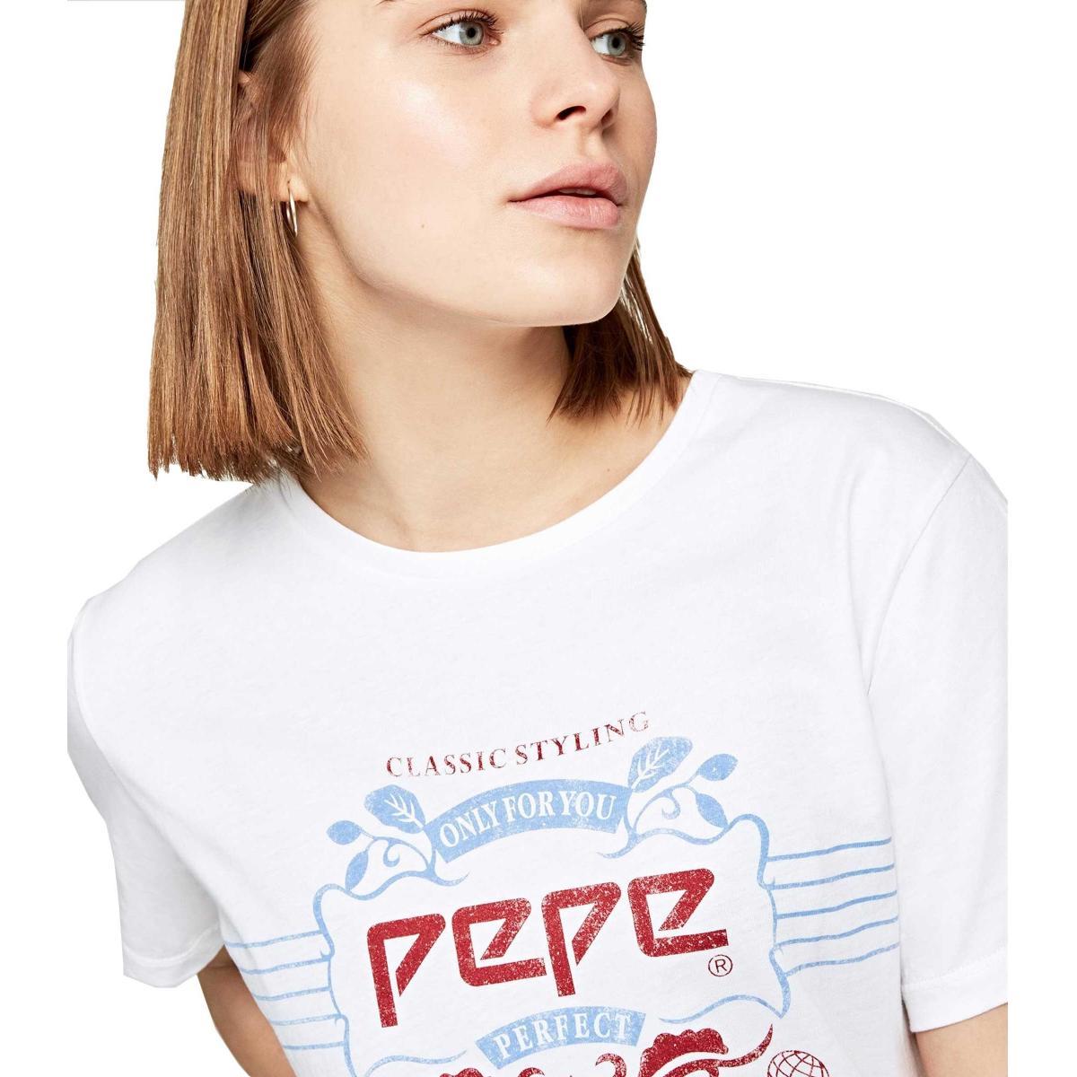 T-shirt Pepe Jeans retro con stampa da donna rif. PL504124 45TH 03L