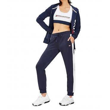 Joggers pantaloni Tommy Sport con righe rétro da donna rif. S10S100078