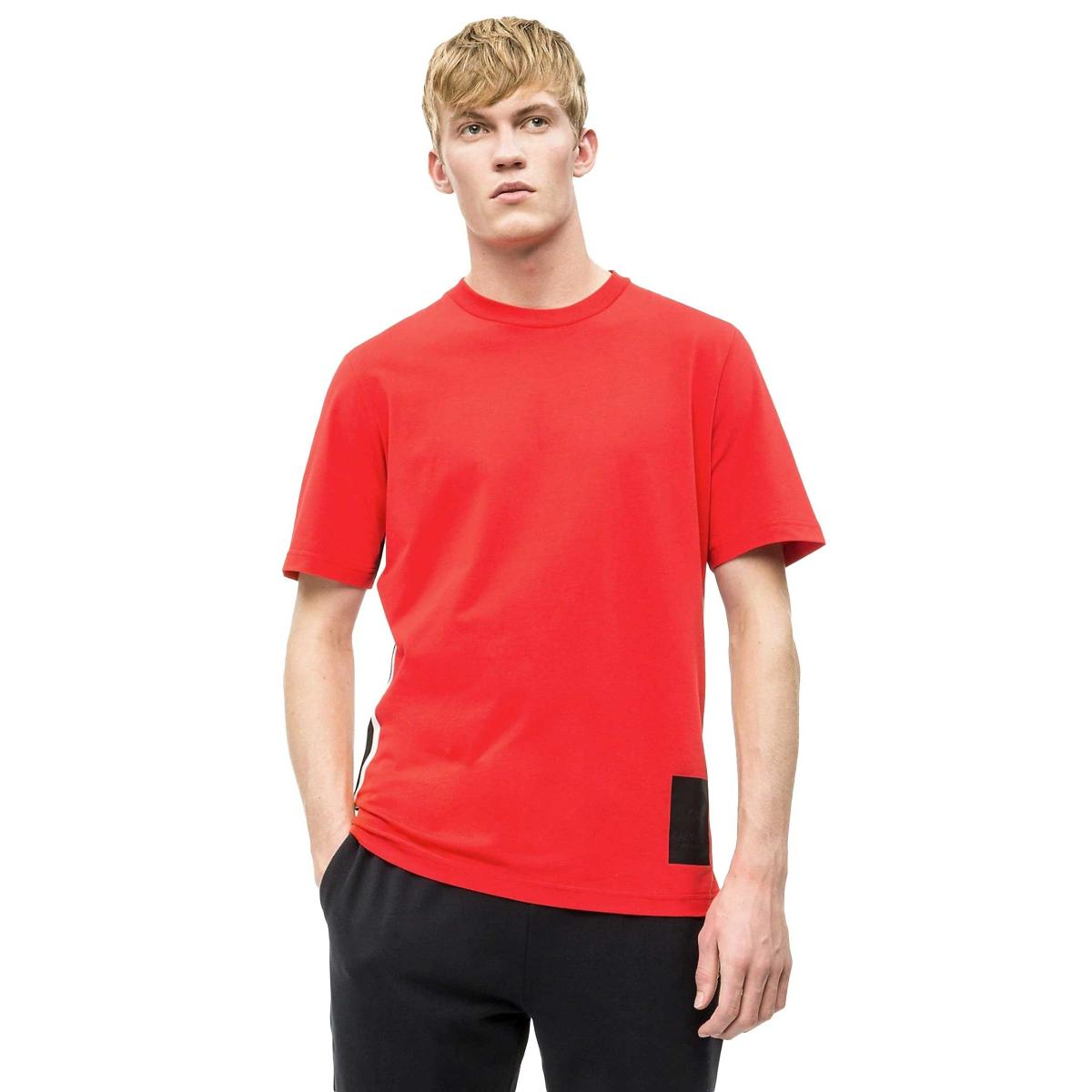 T-shirt Calvin Klein Performance con righe laterali da uomo rif. 00GMS9K177