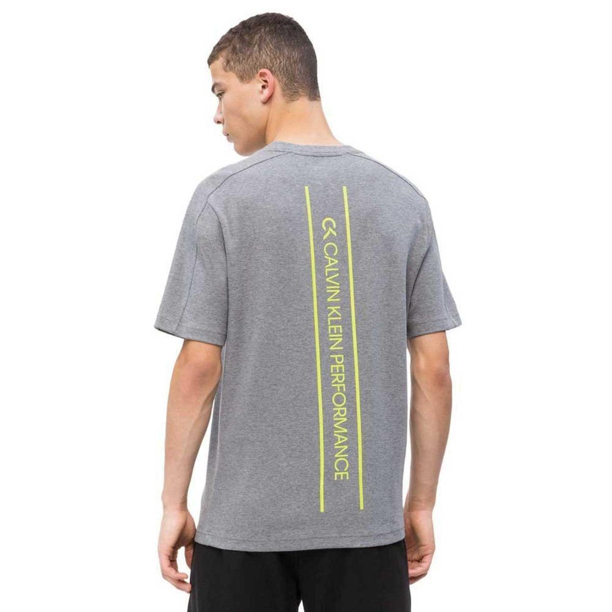 T-shirt Calvin Klein Performance con stampa sulla schiena da uomo rif. 00GMS9K246