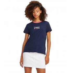 T-shirt Tommy Jeans in puro cotone con logo da donna rif. DW0DW06216