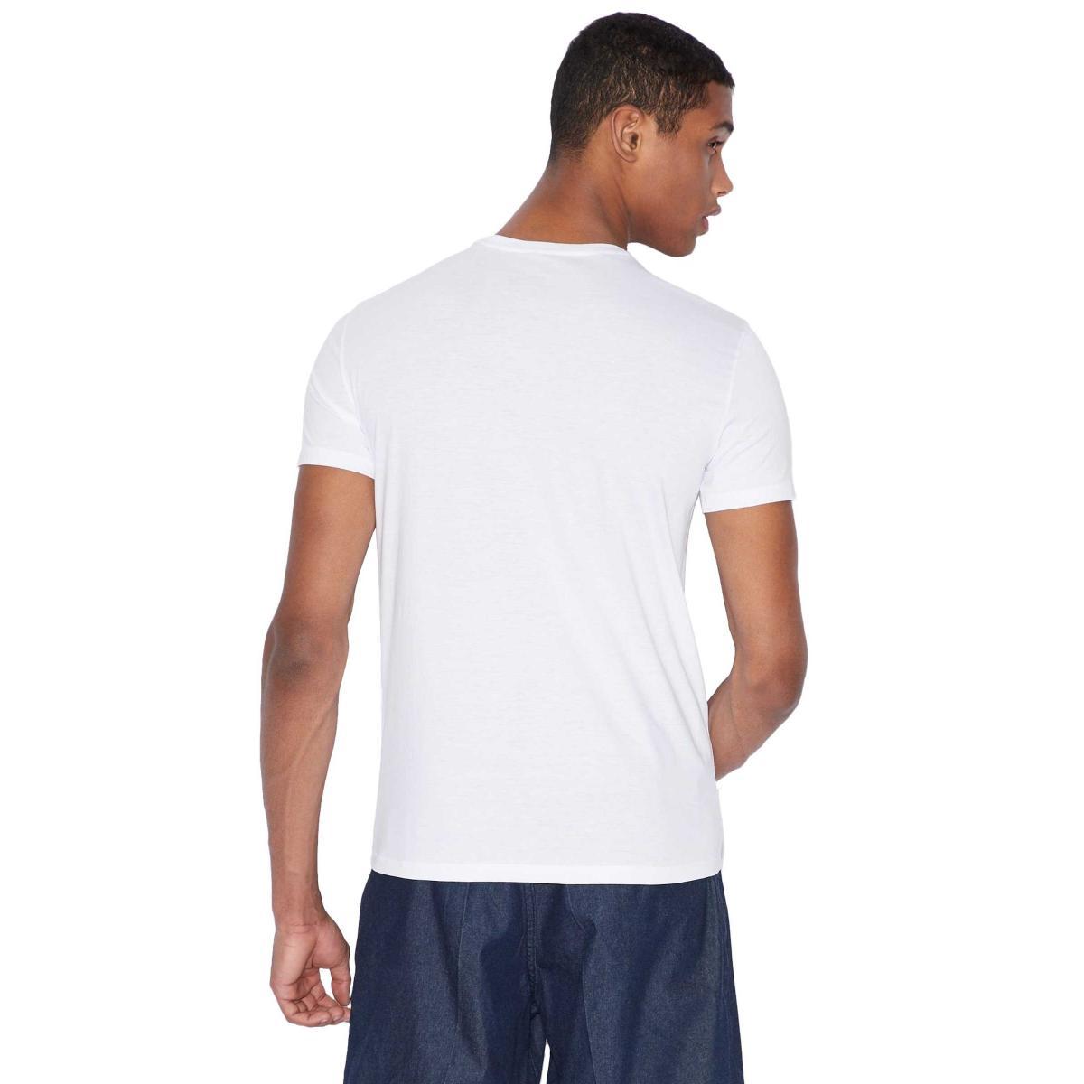 T-shirt Armani Exchange con stampa fotografica da uomo rif. 3GZTGY ZJA5Z