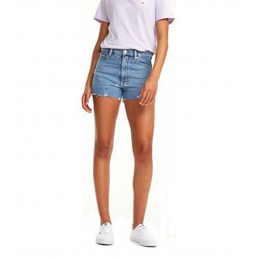 Shorts Tommy Jeans in denim con monogrammi da donna rif. DW0DW06364