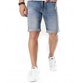 Shorts Calvin Klein Jeans in denim blu da uomo rif. J30J313072