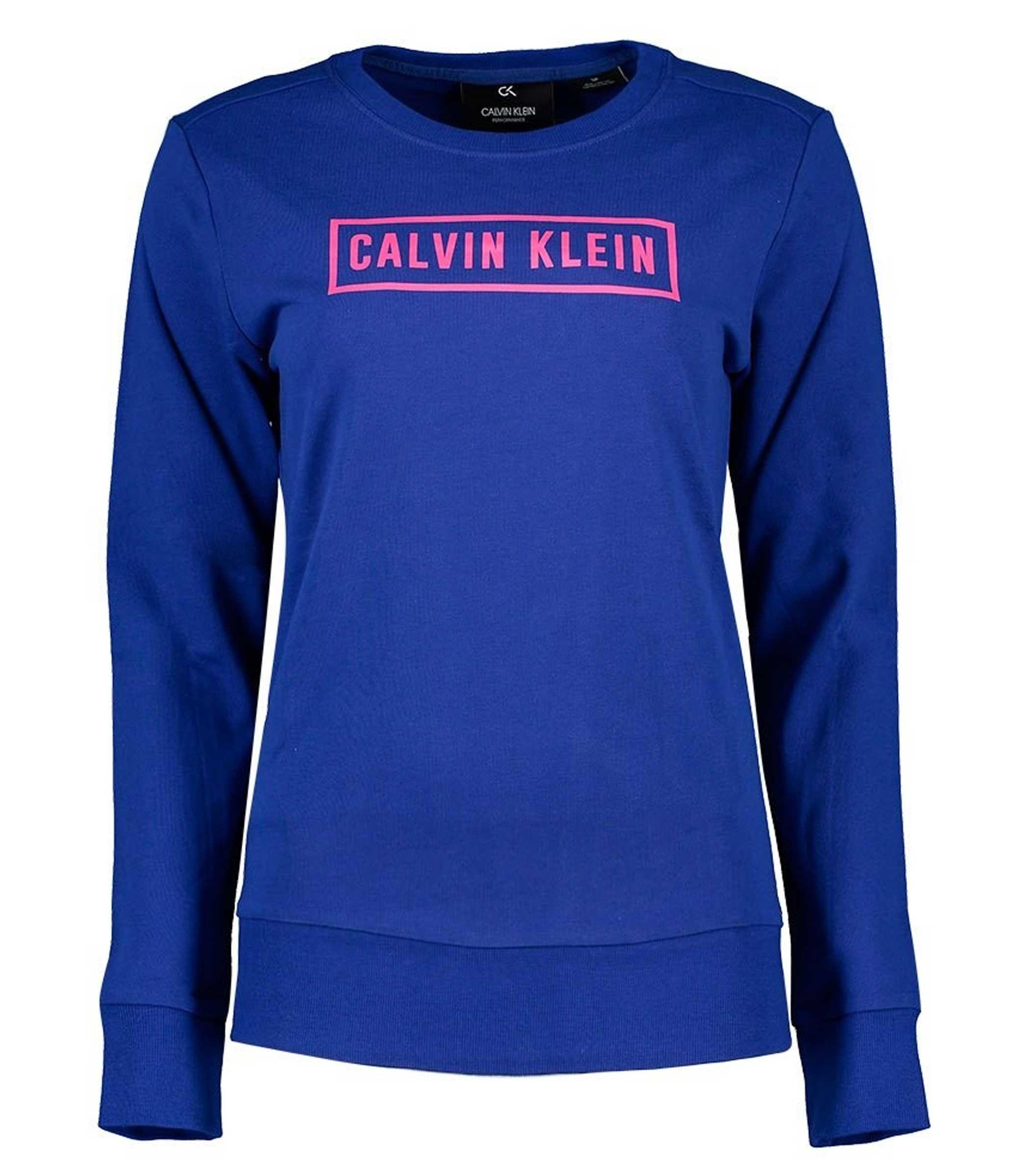 new style e6571 f929b Pullover Felpa Calvin Klein Performance con stampa da donna ...